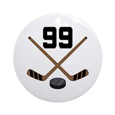 Hockey Player Number 99 Ornament (Round)