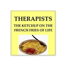 "therapist Square Sticker 3"" x 3"""
