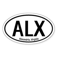 Alexandria, Virginia Oval Decal