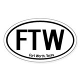 Fort Worth, Texas Oval Decal