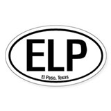 El Paso, Texas Oval Decal