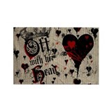 off-with-her-head_9x12.jpg Rectangle Magnet