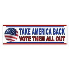 VOTE THEM OUT Car Sticker
