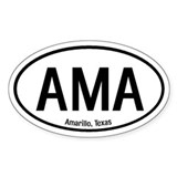 Amarillo, Texas Oval Decal