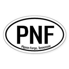 Pigeon Forge, Tennessee Oval Decal