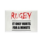 It Only Hurts 1 Rugby Rectangle Magnet
