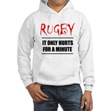 It Only Hurts 1 Rugby Hooded Sweatshirt