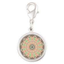 Mandala of Growth Silver Round Charm