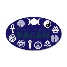 Born Again Pagan 35x21 Oval Wall Decal