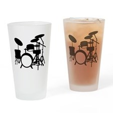 Cute Drummer Drinking Glass