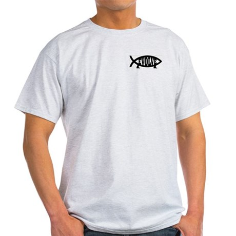 Evolve Fish Symbol Ash Grey T-Shirt