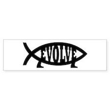 Evolve Fish Symbol Bumper Car Sticker
