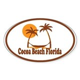Cocoa Beach - Palm Trees Design. Decal
