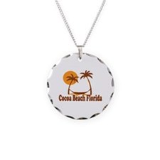 Cocoa Beach - Palm Trees Design. Necklace