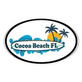 Cocoa Beach - Surf Design. Decal