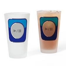 Start/Pause-Symbol Drinking Glass