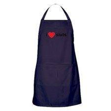 I Love Sluts Apron (dark)