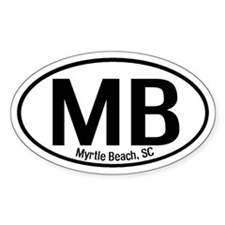 Myrtle Beach, SC Oval Decal