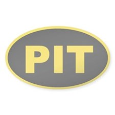Pittsburgh, Pennsylvania Oval Decal