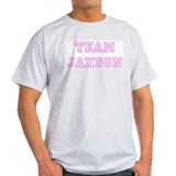 Pink team Jaxson Ash Grey T-Shirt