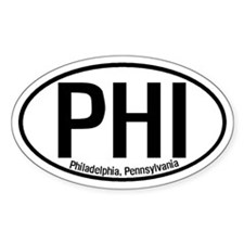 Philadelphia, Pennsylvania Oval Decal