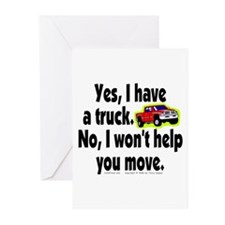 Yes/No Truck. Greeting Cards (Pk of 10)