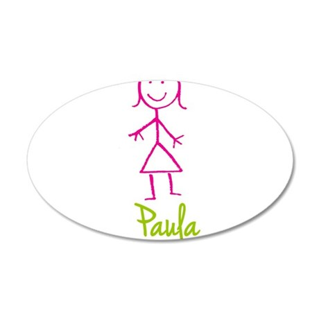Paula-cute-stick-girl.png 35x21 Oval Wall Decal