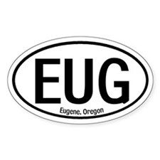 Eugene, Oregon Oval Decal