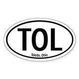 Toledo, Ohio Oval Decal
