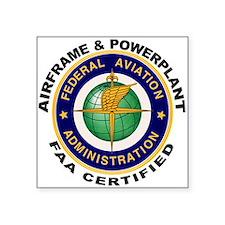 FAA Certified A & P Mechanic Sticker