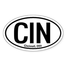 Cincinnati, Ohio Oval Decal