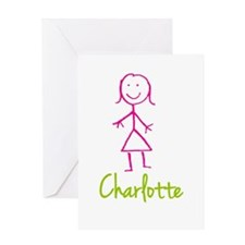 Charlotte-cute-stick-girl.png Greeting Card