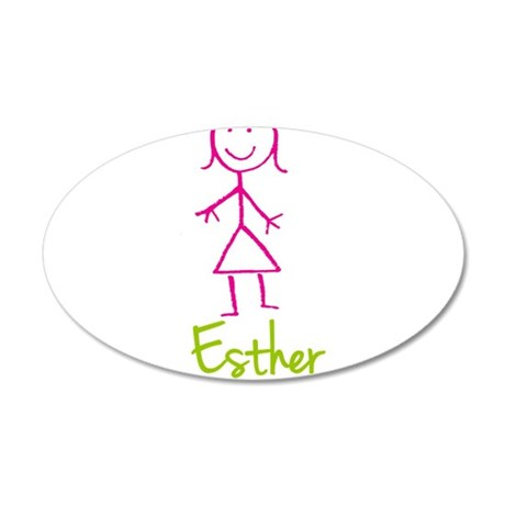 Esther-cute-stick-girl.png 20x12 Oval Wall Decal