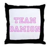 Pink team Damion Throw Pillow
