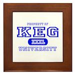 Keg University Property Framed Tile
