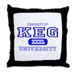 Keg University Property Throw Pillow