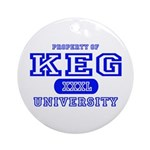 Keg University Property Ornament (Round)