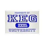 Keg University Property Rectangle Magnet (10 pack)