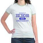 Keg University Property Jr. Ringer T-Shirt