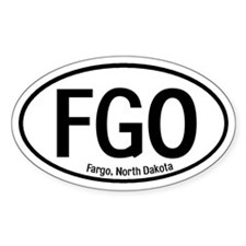 Fargo, North Dakota Oval Decal