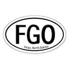 Fargo, North Dakota Oval Decal