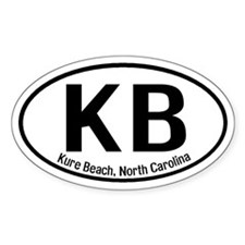 Kure Beach, North Carolina Oval Decal