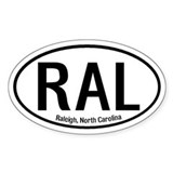 Raleigh, North Carolina Oval Decal