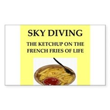 sky diving Decal