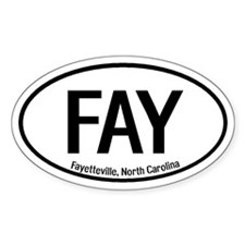Fayetteville, North Carolina Oval Decal