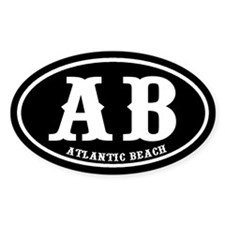 Atlantic Beach Oval Stickers
