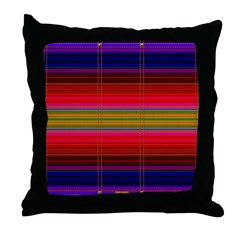 Indian Blanket Print Throw Pillow