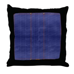 Blue Denim Fade Throw Pillow