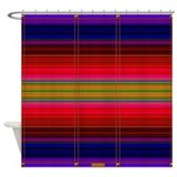 Indian Blanket Print Shower Curtain