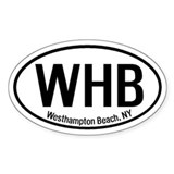 Westhampton Beach, NY Oval Decal